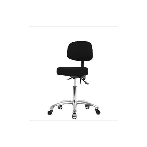 Thomas VDHST-CR-T1-CC-c8582 Desk Height Stool with Back and Chrome Base, with Tilt, Chrome Caster