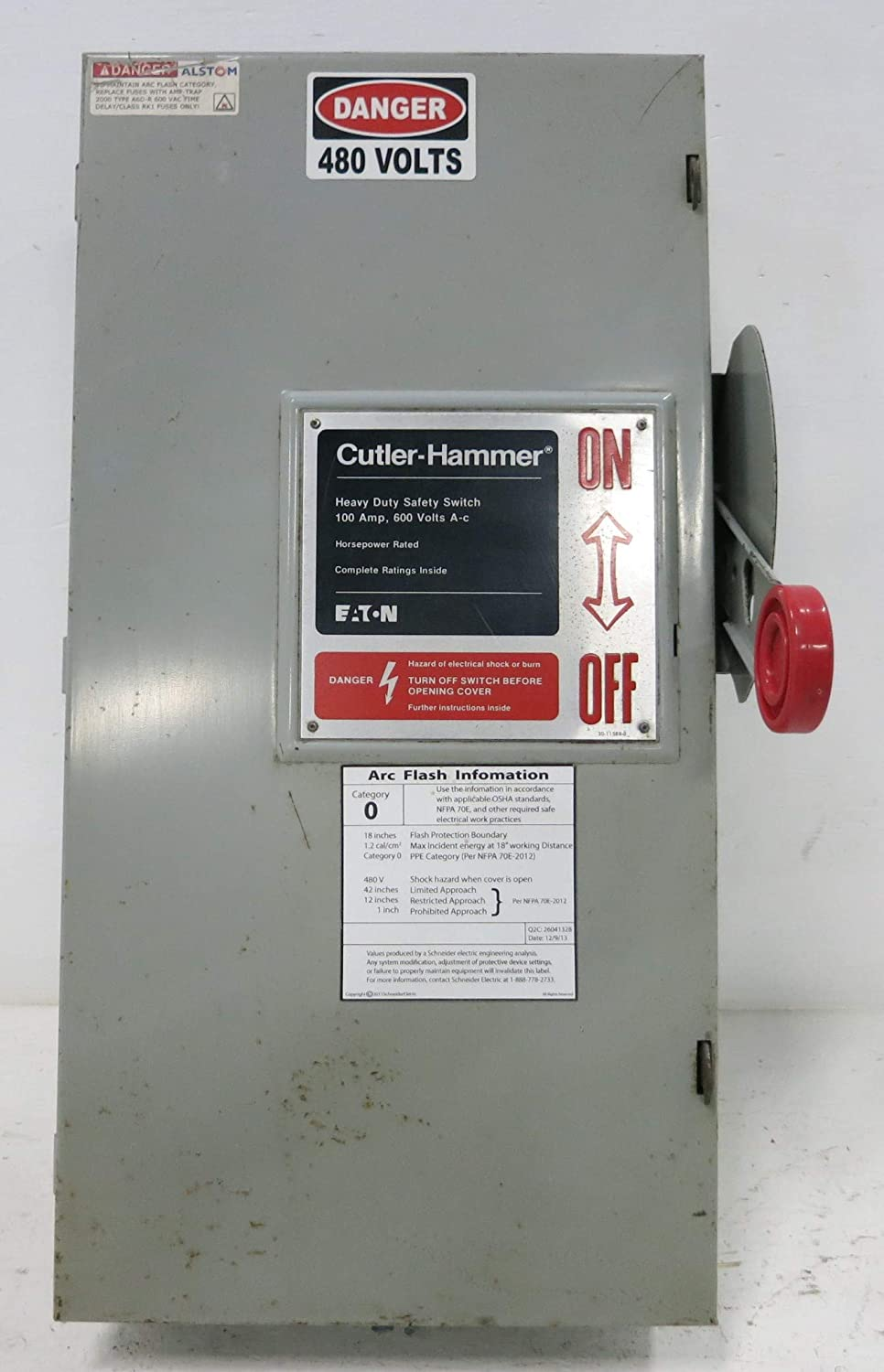 Cutler-Hammer DH363FGK 100 Amp 600V Fusible Safety Switch Disconnect 100A