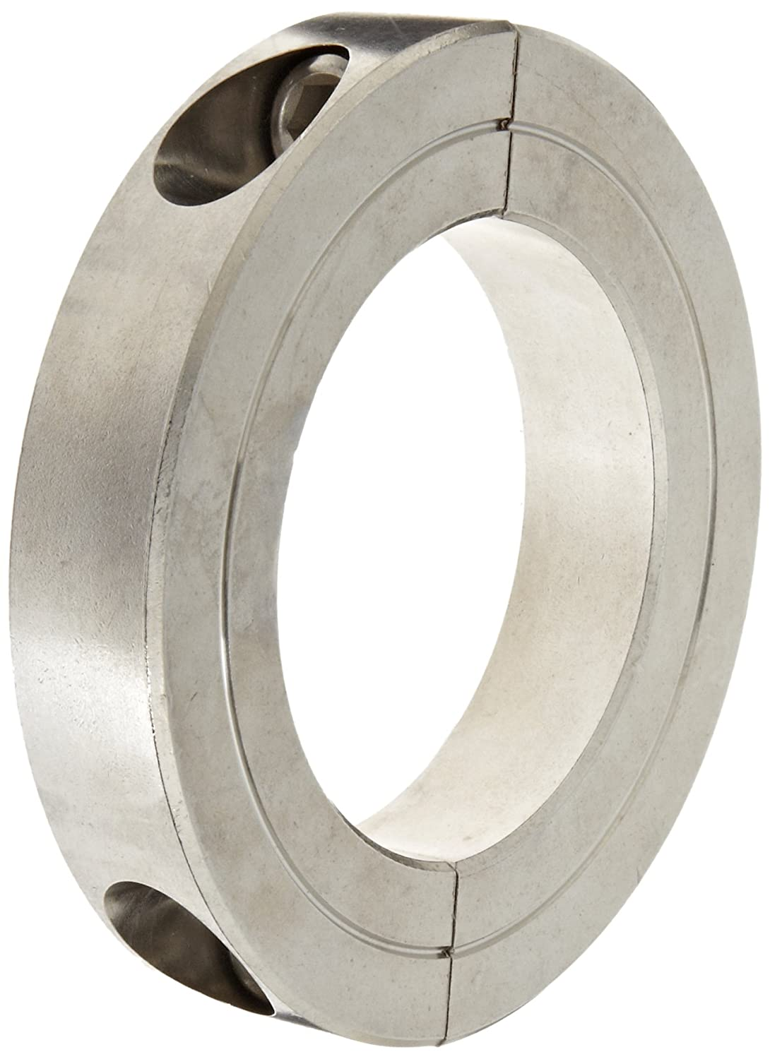 Climax Metal H2C-193-S T303 Recessed Screw Clamping Collar, Two Piece, Stainless Steel, 1-15/16