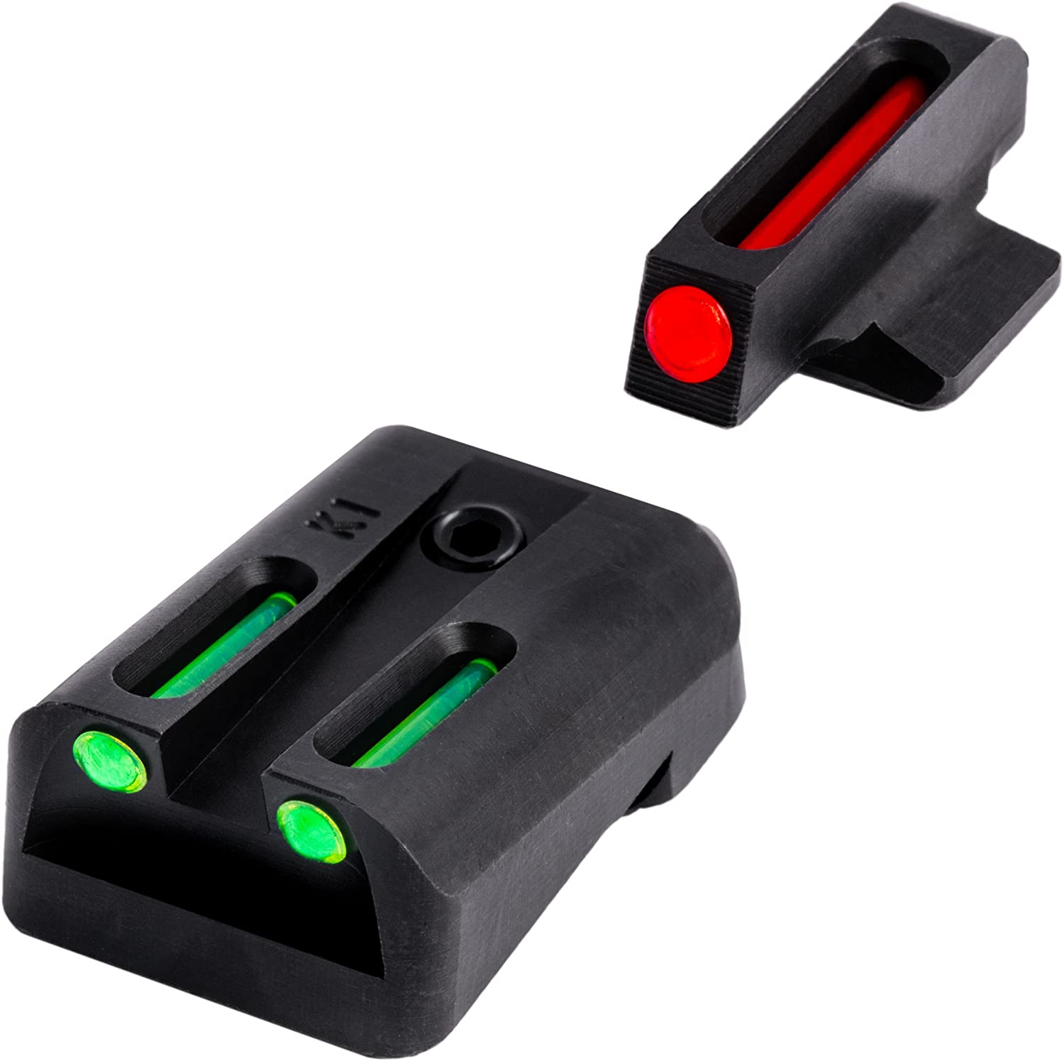 TRUGLO Fiber-Optic Front and Rear Handgun Sights for Kimber 1911 Models with Fixed Rear Sight