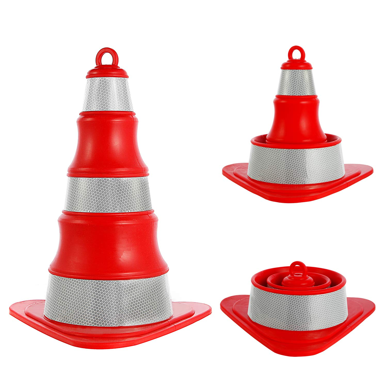 Safety Traffic Cones Collapsible and Reflective Construction Cone Stands Up to The Challenges of Adverse Weather or Road Conditions