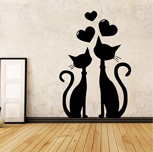 Diuangfoong Classic Love Cat Vinyl Wallpaper Roll Furniture Decorative Living Room Children Room Vinyl Art Decals