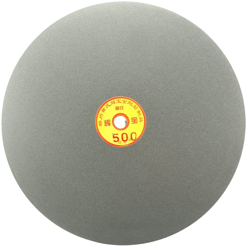 Aexit 250mm 10-inch Abrasive Wheels & Discs Grit 500 Diamond Coated Flat Lap Disk Wheel Grinding Surface Grinding Wheels Sanding Disc