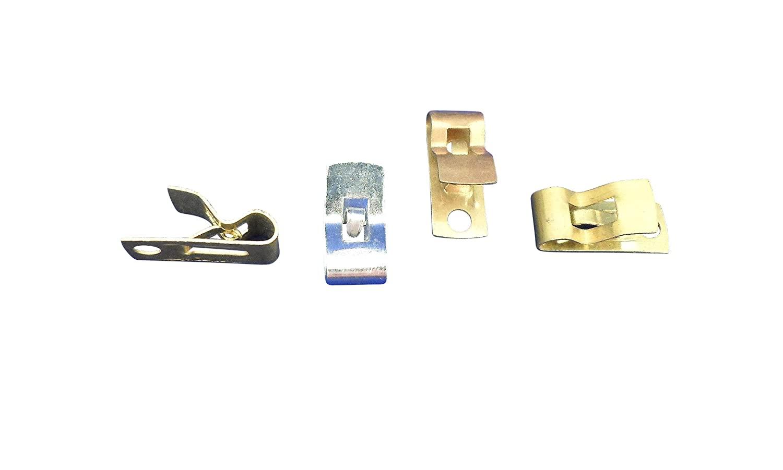 Ajax Scientific Brass Fahnstock Clip (Pack of 12)