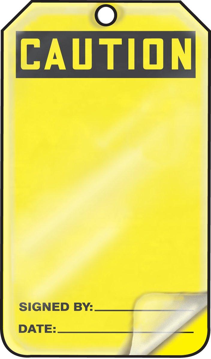 Accuform MGT200LTM HS-Laminate Safety Tag, Legend