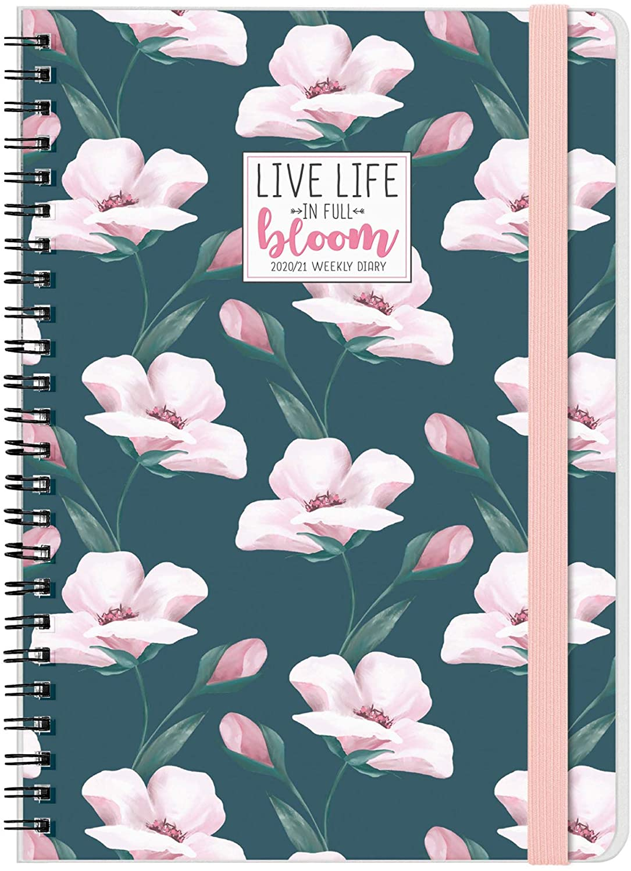 Legami Spiral Weekly Planner 16 Months 2020/2021 Flowers Flowers
