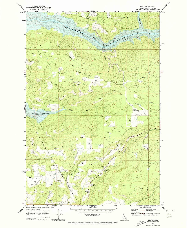 Map Print - Dent, Idaho (1969), 1:24000 Scale - 24