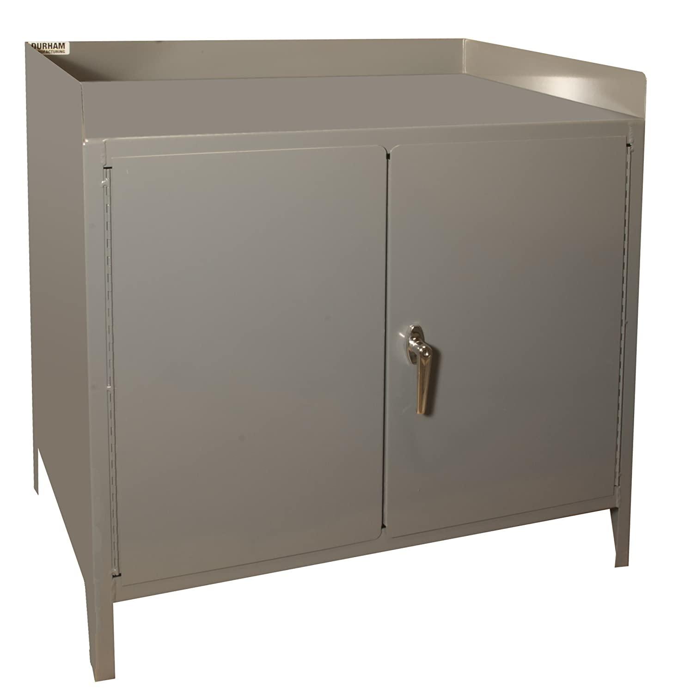 Durham 16 Gauge Welded Steel Heavy Duty Secure Mobile Bench Cabinet, 3000-95, 1 Shelf