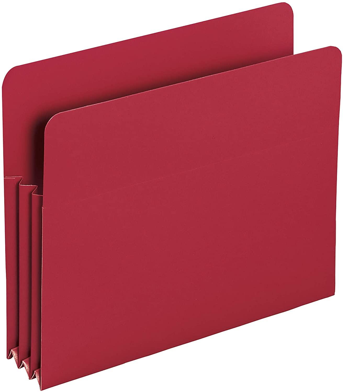 Smead Poly File Pocket, Straight-Cut Tab, 3-1/2