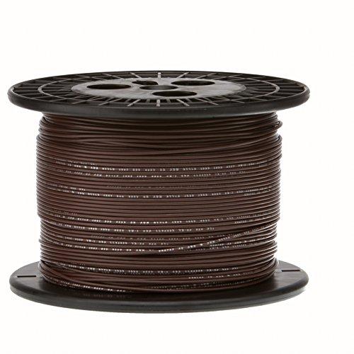 28 AWG Gauge Stranded Hook Up Wire, 1000 ft Length, Brown, 0.0126