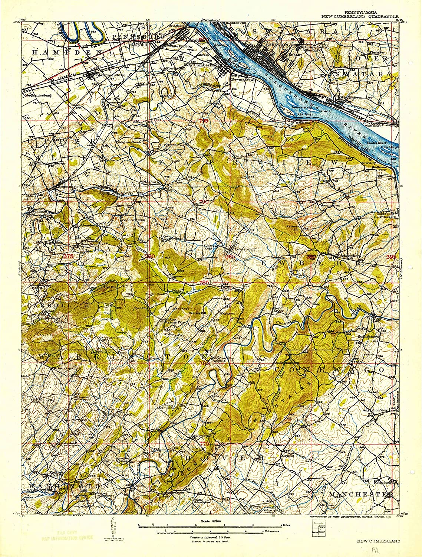 Map Print - New Cumberland, Pennsylvania (1906), 1:62500 Scale - 24