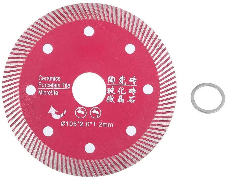 Diamond Porcelain Saw Blade Wheel Ceramic Tile Cutting Disc for Cutting Concrete Granite Marble Stone 4.1 inch (No.2 pink 108 gear)