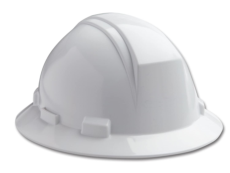 Dynamic Safety HP641/01 Kilimanjaro Hard Hat with 4-Point Nylon Suspension and Pin Lock Adjustment, ANSI Type I, One Size, White