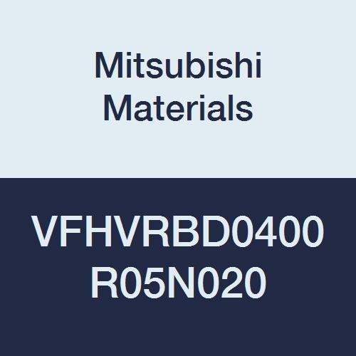 Mitsubishi Materials VFHVRBD0400R05N020 Series VFHVRB Carbide Impact Miracle End Mill, Short, Irregular Helix Flute (4), 4 mm Cut Dia, 0.5 mm Corner Radius, 4 mm LOC, 20 mm Neck Length