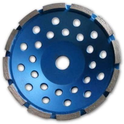 7-inch Diamond Cup Grinding Wheel Single Row Grit 30~40, NO-Thread 7/8