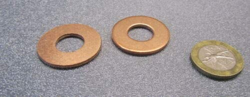 10 Pcs of 110 Copper Round Washer, 7/16