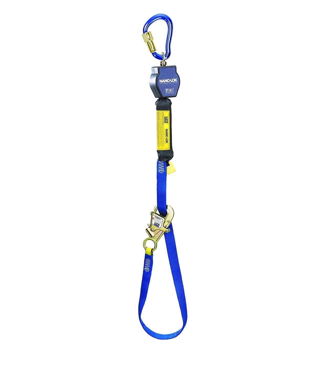 3M DBI-SALA Nano-Lok 3101365 Tie Back Self Retracting Lifeline, 9', 3/4