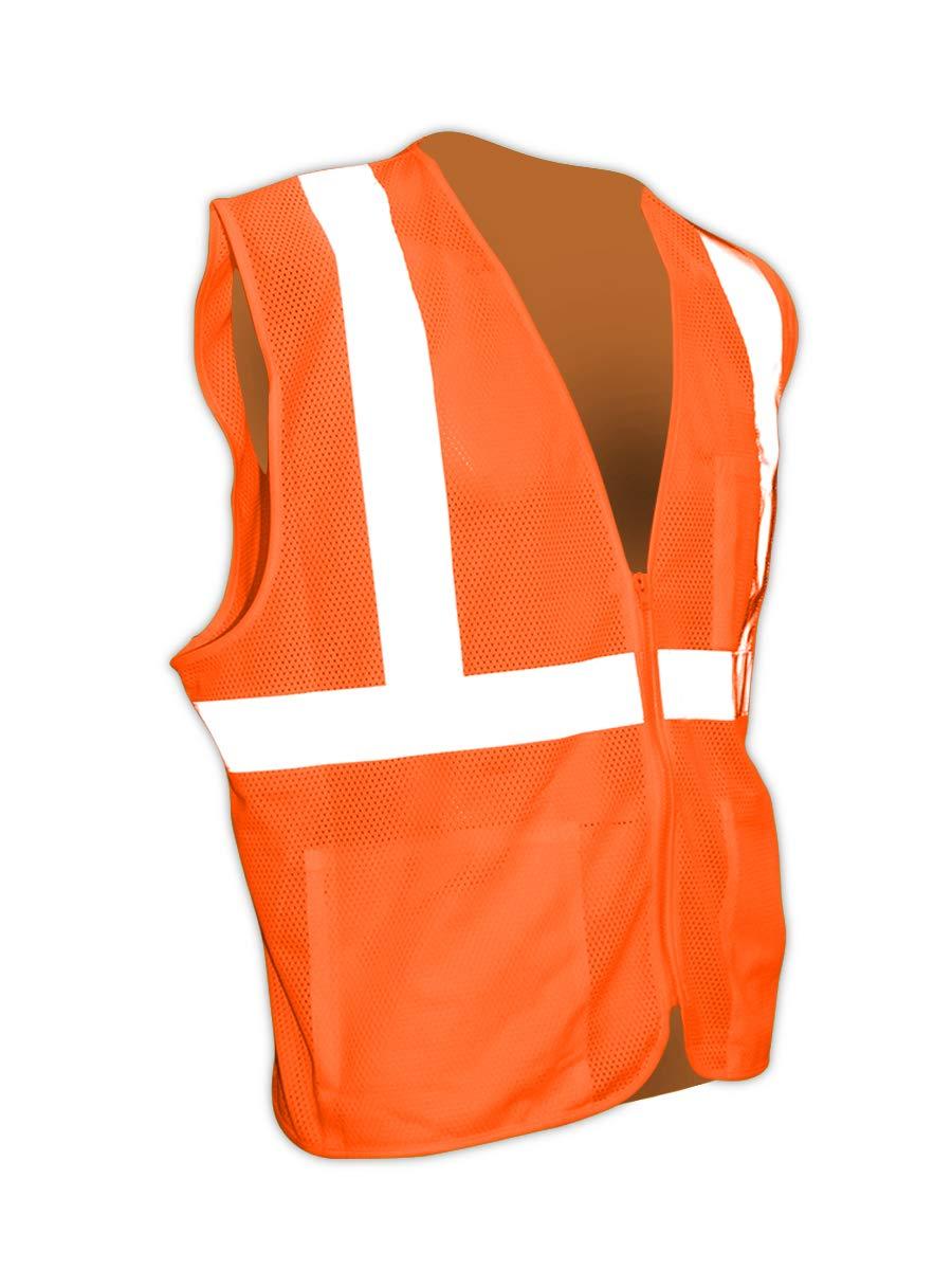 Magid Orange ANSI 107 Class 2 Polyester High-Visibility Vest (1 Vest)