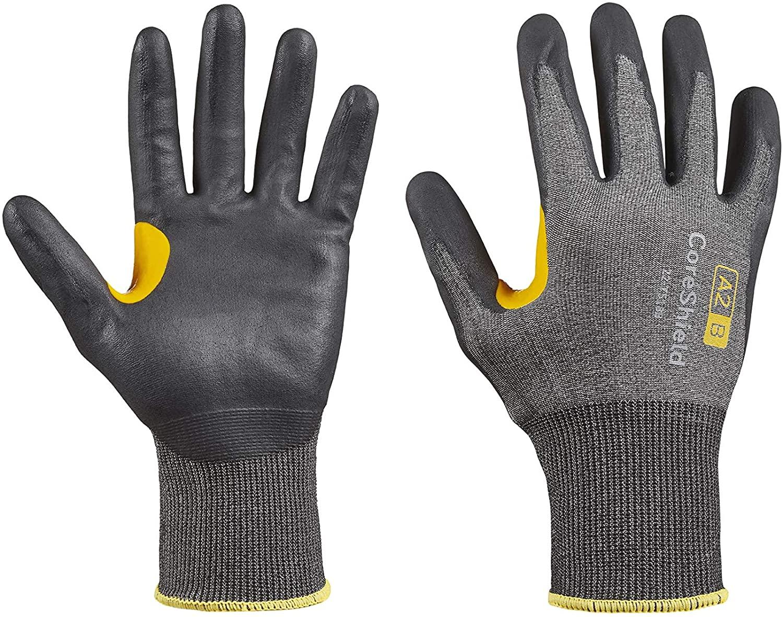 Honeywell CoreShield, 18 gauge HPPE grey liner, nitrile micro-foam black coating, A2/B