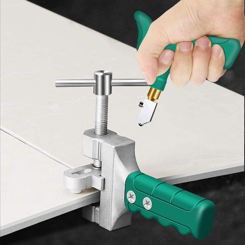 QYY Glass Cutter Tool Kit, Handheld Glass Tile Detacher, Tile Knife Household Knife Diamond Glass Cutter for Tile & Glass