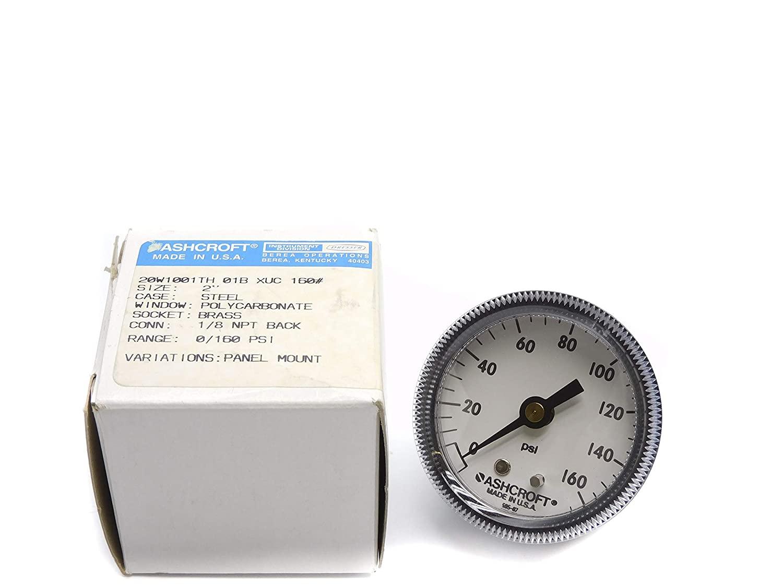 Ashcroft 20W1001TH01BXUC160 0-160PSI NSMP