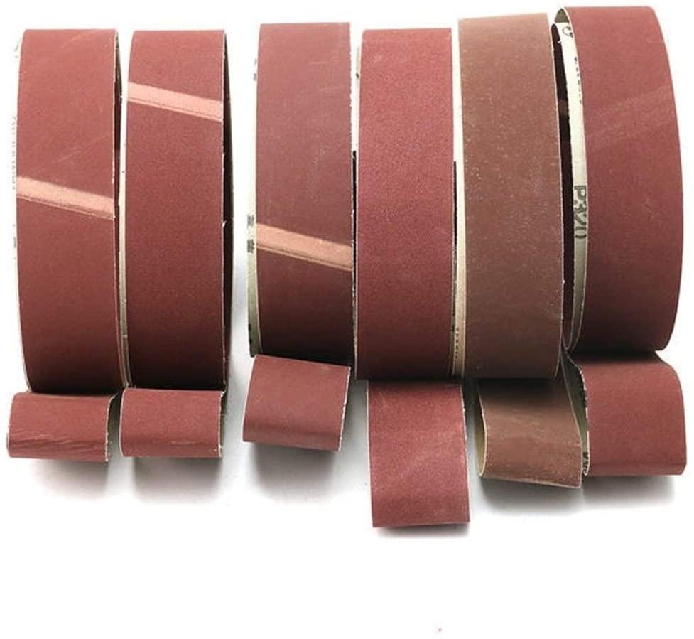 Sanding Belt 6pcs 5x182cm Sanding Belts 180-800 Grit Abrasive Sanding Belts for Sander Grinding Home Tool