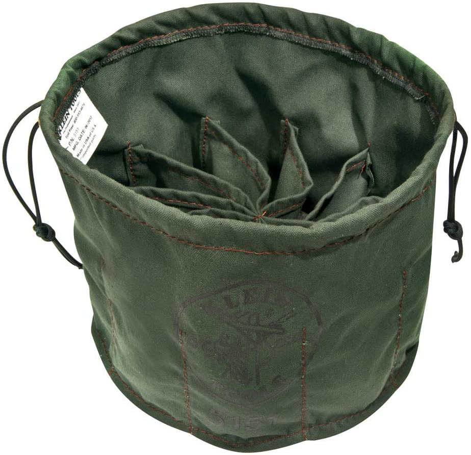 Drawstring Bag, 10-Compartment Klein Tools 5151