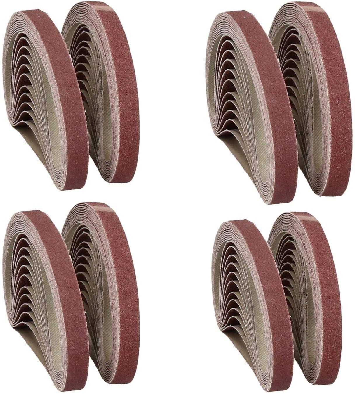 457mm x 13mm Mixed Grit Abrasive Sanding Belts Power File Sander Belt 100 Pack
