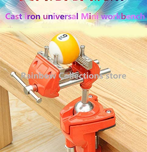 Ochoos Vise Mini Workbench Home Multi-Function cast Iron Universal Small Table Vise Vise Heavy-Duty Fixture Welding - (Size: Ordinary jaw)