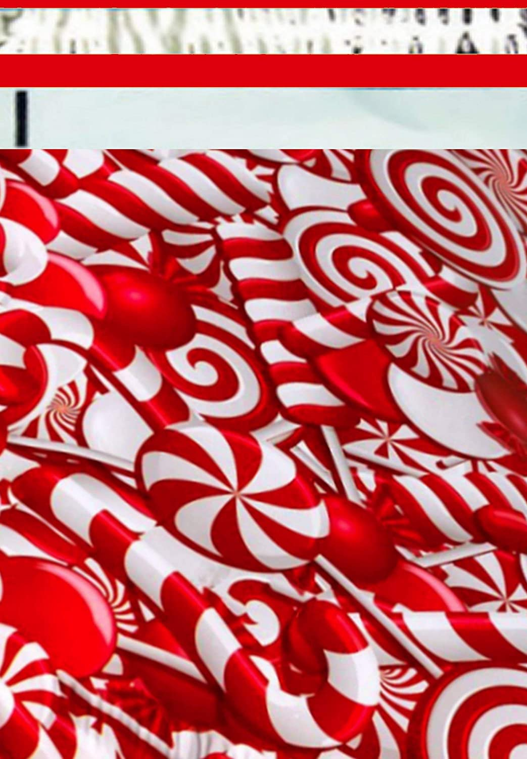 2.5 Mil 500 10x13 (Candy Cane) Color Boutique Designer Poly Mailers Shipping Bags