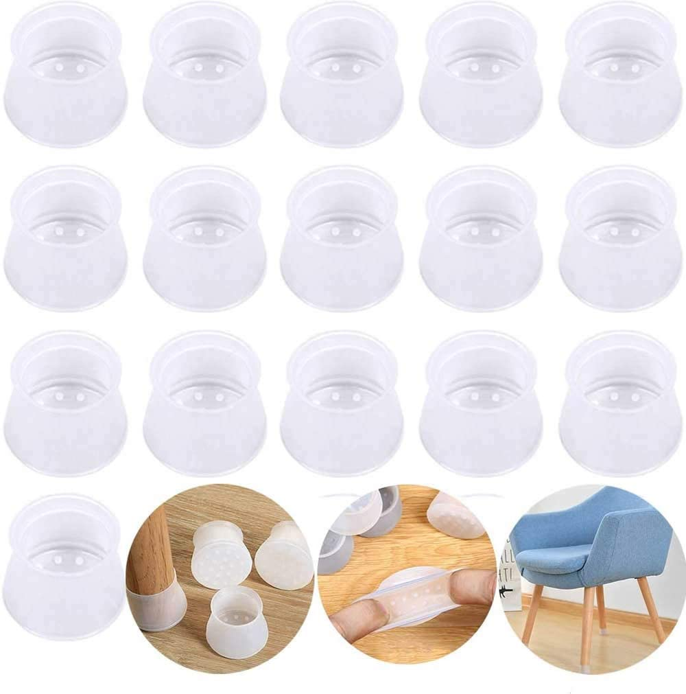 20PCS Furniture Leg Silicon Protection Covers, Anti-Slip Table Feet Pad Floor Protector - Foot Protection Bottom Cover Prevents Scratches and Noise Furniture Silicon Protection Cover