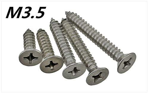Ochoos 50pcs M3.56.5/9.5/13/16/19/22/25/30/32/3538/40/45/50mm Stainless Steel Cross Flat Head self-Drilling Screw self-Tapping Screw - (Dimensions: x22)
