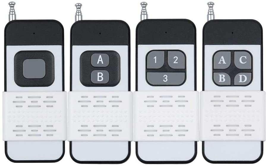 Nologo Jidawangluo Wireless Distant Control Transmitter For Smart Remote Switch 1/2/3/4 Push Cover Long Range Big Button Distant EV1527/2262 (Size : 1 button)