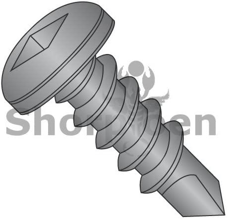 8-18X5/8 Square Drive Pan Self Drilling Screw Full Thread Black Oxide - Box Quantity 3000 by Shorpioen BC-0810KQPB