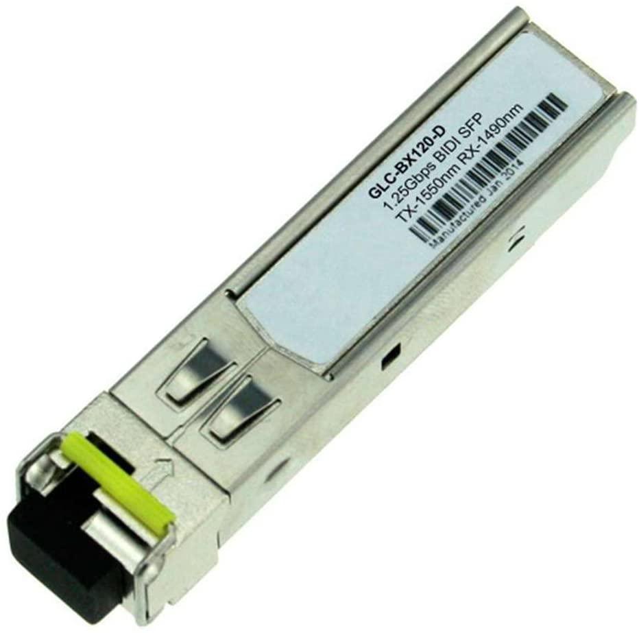 LODFIBER GLC-BX120-D Cisco Compatible 1000BASE-BX BiDi SFP 1550nm-TX/1490nm-RX 120km DOM Transceiver