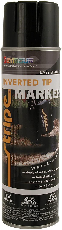 Seymour 20-663 Stripe Inverted Tip Marker, Black