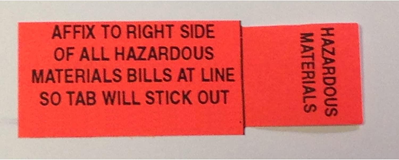 HazMat Shipping Paper Tab - Haz Tabs - Hazardous Material, Adhesive Labels
