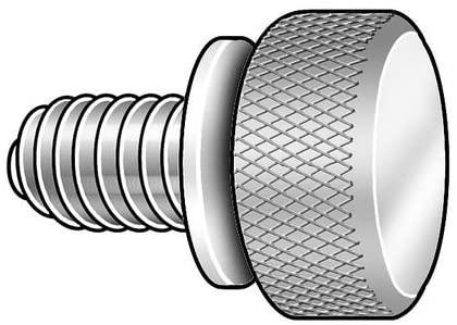 Thumb Screw, Knurled, 6-32 x 1