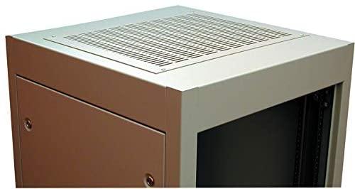 C2T1923VBK1 - Panel, C2 Top, Vented, Steel, Black, Hammond C2 series Cabinet Racks 23.63 inches Deep, 381 mm (C2T1923VBK1)