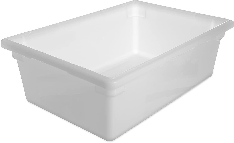 Carlisle 1064202 Polyethylene Food Box Storage Container, White