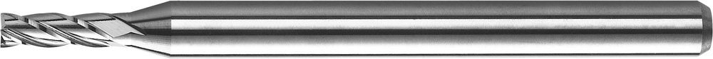 KYOCERA 1710-0400L200 Series 1710 Standard Length Square End Mill, Carbide, ALTIN, 30 Degree Angle, 3 Flute, 0.0400 Cutting Diameter, 1/8 Shank Diameter, 0.200 Cutting Length, 2-1/2 Length