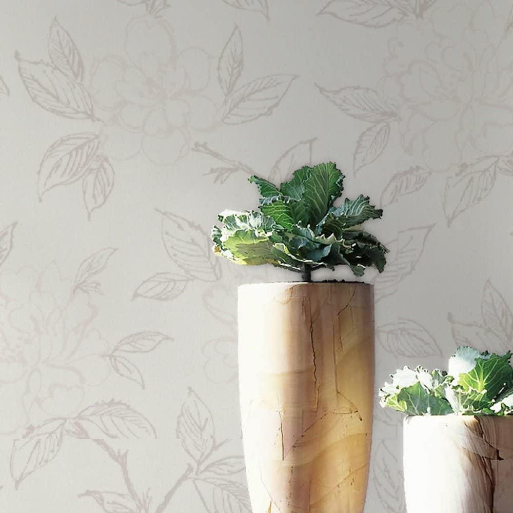 Graham & Brown Bloom Wallpaper, White