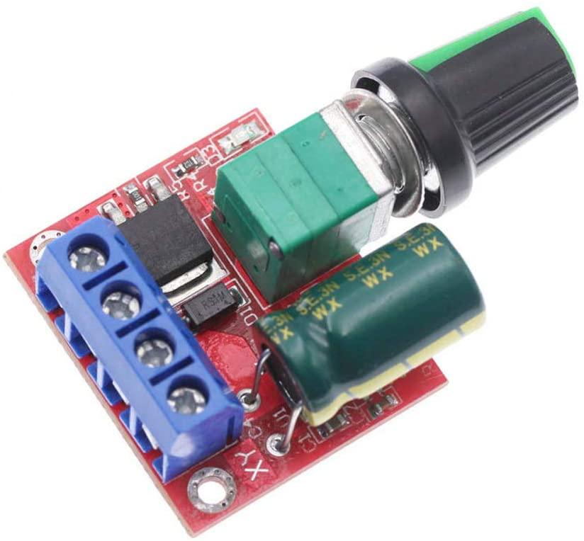 QWERTOUR 12V DC Motor Speed Controller Module 4.5V to 35V Adjustable Speed Regulator Control Governor Switch