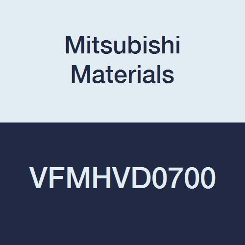 Mitsubishi Materials VFMHVD0700 VFMHV Series Carbide Impact Miracle End Mill, 4 Irregular Helix Flutes, High Helix 45°, Square, 7 mm Cut Dia, 8 mm Shank Dia, 60 mm OAL, 19 mm LOC