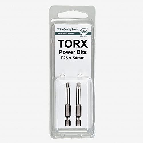 Wiha 74547 T27 x 50mm Torx Ball End Power Bit (2 Pack)