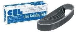 CRL 1-1/8 x 21 60X Grit Glass Grinding Belts for Portable Sanders - 10/Box - CRL118X2160X