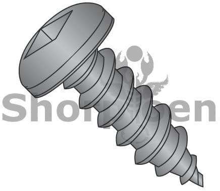 8-18X3/8 Square Pan Self Tapping Screw Type A B Fully Threaded Black Oxide and Oil - Box Quantity 10000 by Shorpioen BC-0806ABQPB