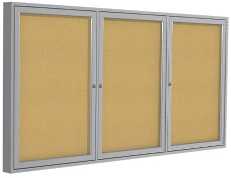 Enclosed Cork Bulletin Board 36x72,3 Door