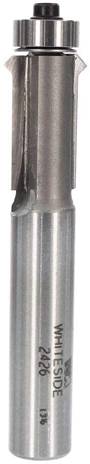Whiteside Router Bits 2426 Flush Trim V-Groove Bit with 1/2-Inch Cutting Diameter and 1-Inch Cutting Length