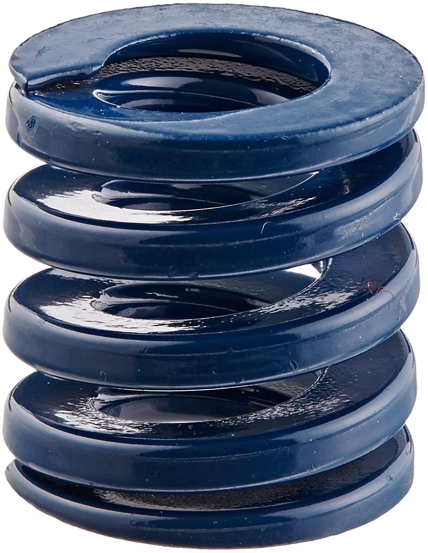Die Spring, Medium Duty, Closed & Ground Ends, Blue, 25mm Hole Diameter, 12.5mm Rod Diameter, 25mm Free Length, 171.5 newtons Spring Rate (Pack of 10)